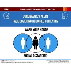 COVID-19 PREVENTION & SAFETY POSTER