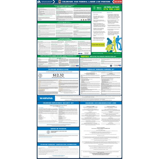 2021 Colorado Digital State and Federal Labor Law Poster