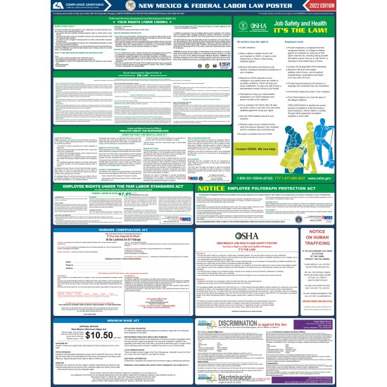 2021 New Mexico Digital State and Federal Labor Law Poster