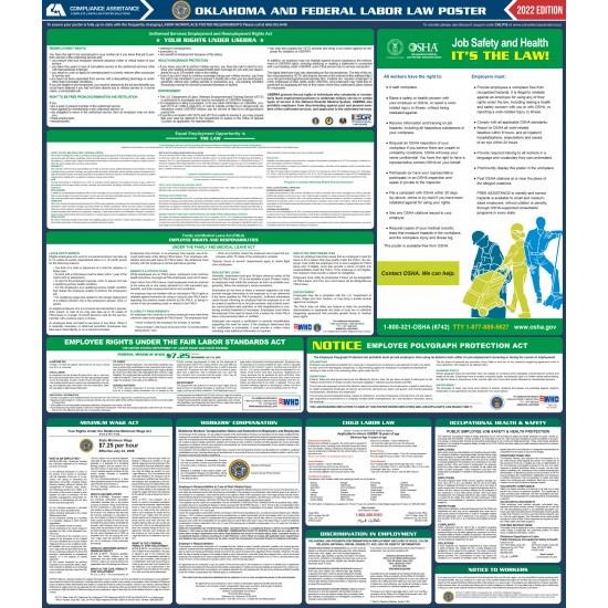 2021 Oklahoma Digital State and Federal Labor Law Poster