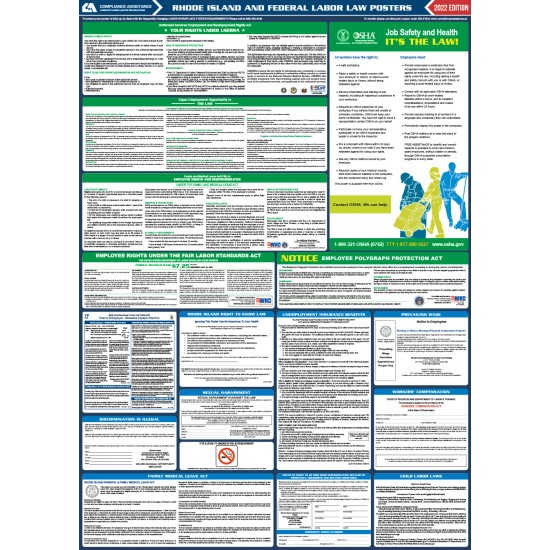 2021 Rhode Island Digital State and Federal Labor Law Poster
