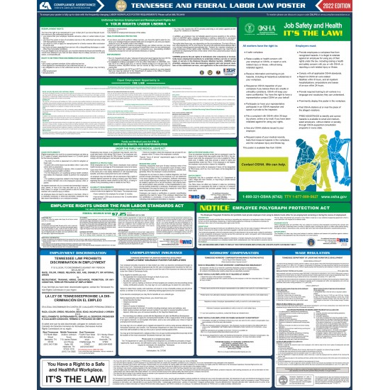 2021 Tennessee State and Federal All-In-One Labor Law Poster