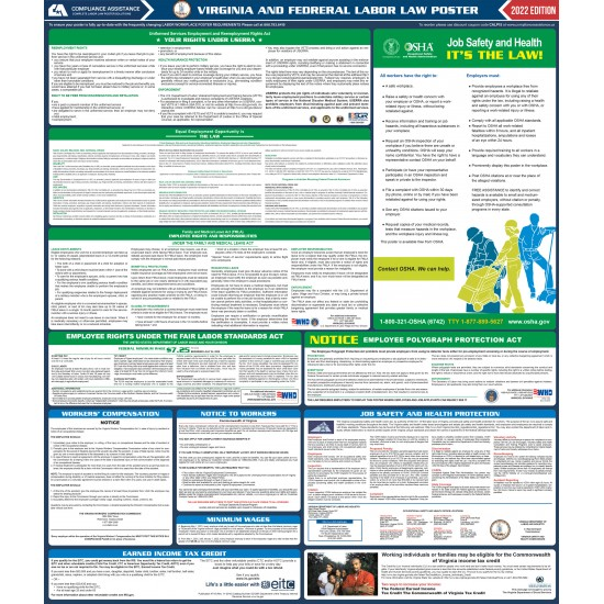 2021 Virginia State and Federal All-In-One Labor Law Poster
