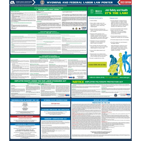2021 Wyoming Digital State and Federal Labor Law Poster