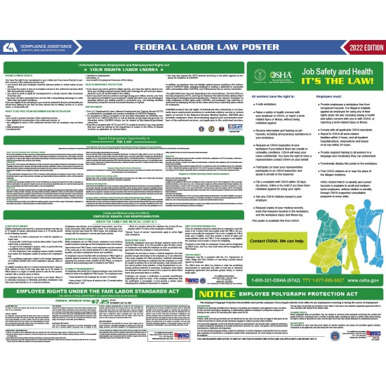 2022 Federal Digital All-In-One Labor Law Poster