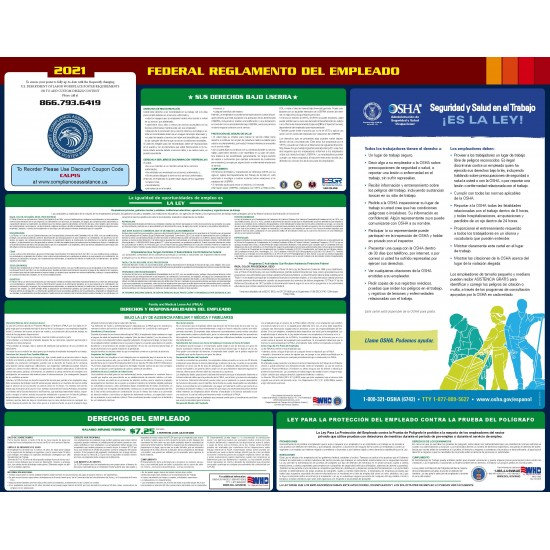 2021 Federal Digital All-In-One Labor Law Poster Spanish