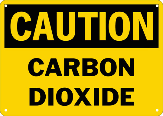 Caution Carbon Dioxide Safety Sign