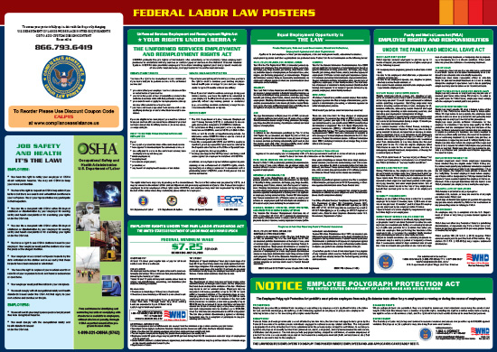 2018 Federal All-In-One Labor Law Poster