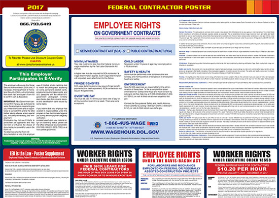 2018 Federal Contractors Labor Law Poster