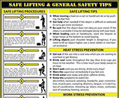 Safe Lifting and General Safety Tips Poster